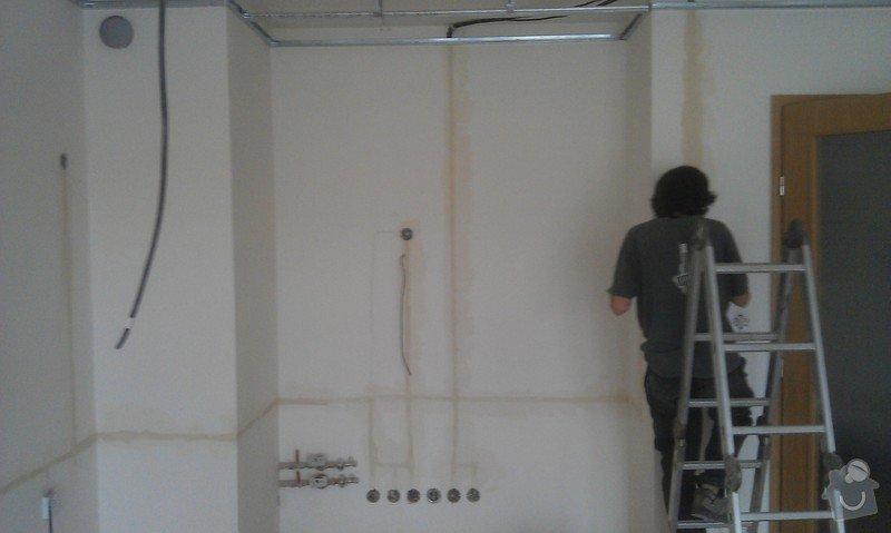 Elektroinstalace - příprava kuchyňské linky, sadrokartonový podhled: IMAG0271