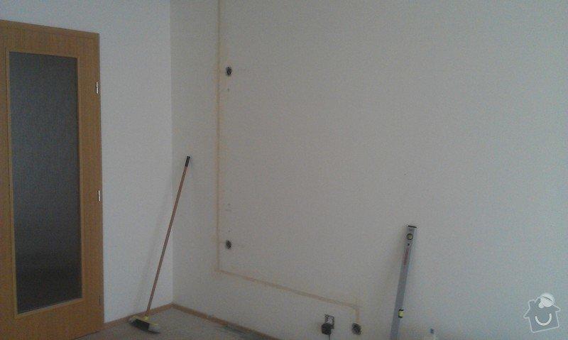 Elektroinstalace - příprava kuchyňské linky, sadrokartonový podhled: IMAG0272