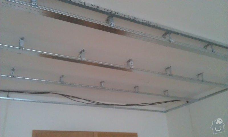 Elektroinstalace - příprava kuchyňské linky, sadrokartonový podhled: IMAG0275