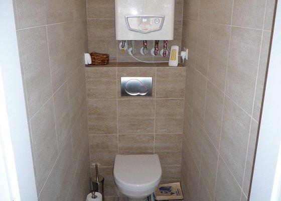 Nová koupelna, WC a předsíň