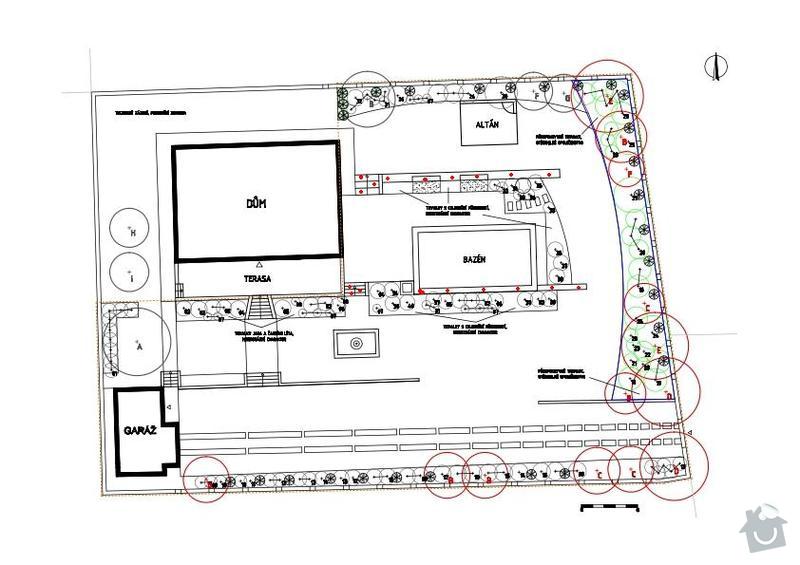 Stavba svahové zídky: plan