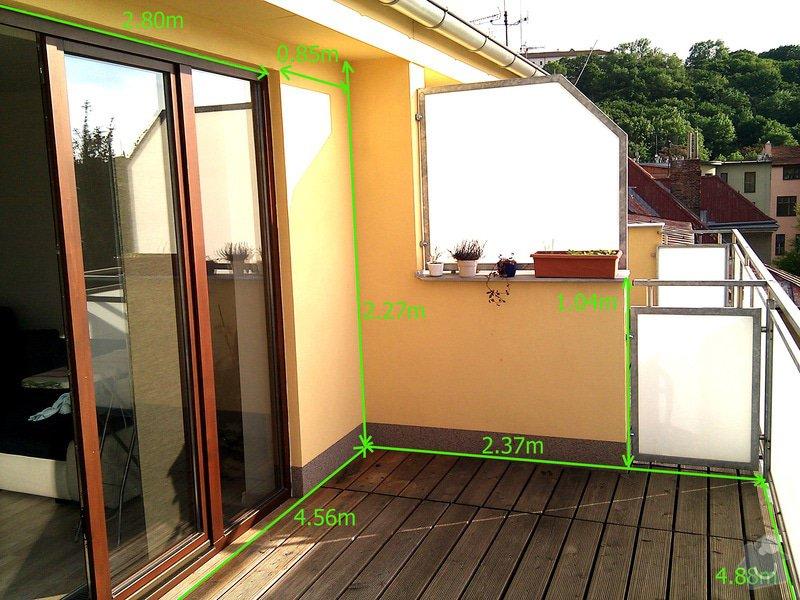 Stavba pergoly s pohyblivou strechou: terasa_rozmer