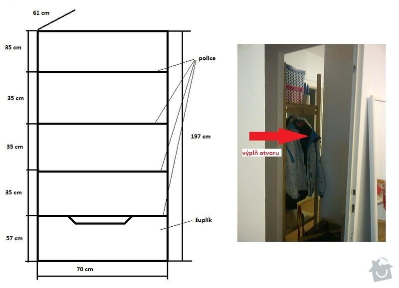 Výroba vestavných skříní na míru a další práce: satna_2