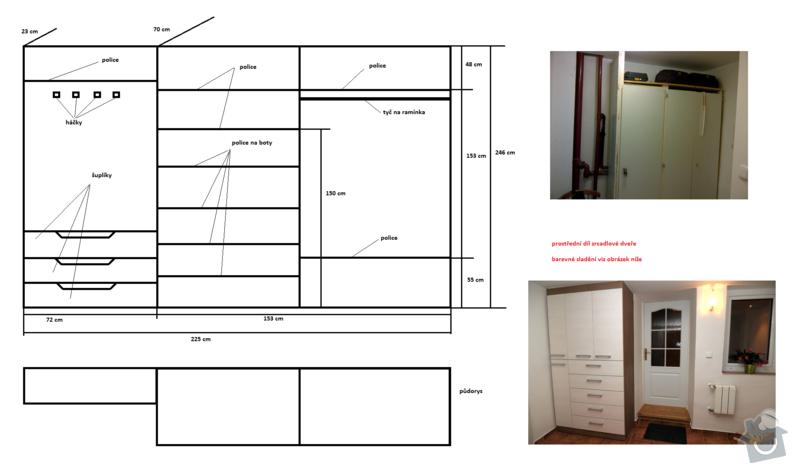Výroba vestavných skříní na míru a další práce: predsin_vestavena_skrin