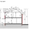 Hruba stavba rodinneho domu a demolice puvodni stavby rez schema