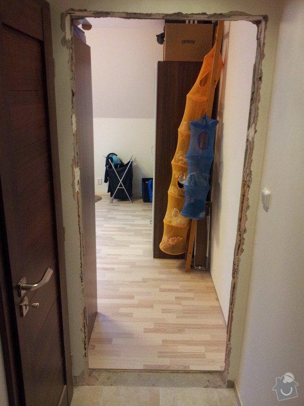 Osazení interiérových dvěří + zárubně: dvere_1