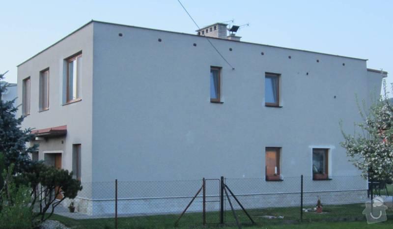 Nátěr fasády RD na břízolit: jih