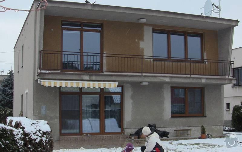 Nátěr fasády RD na břízolit: zadni_pohled