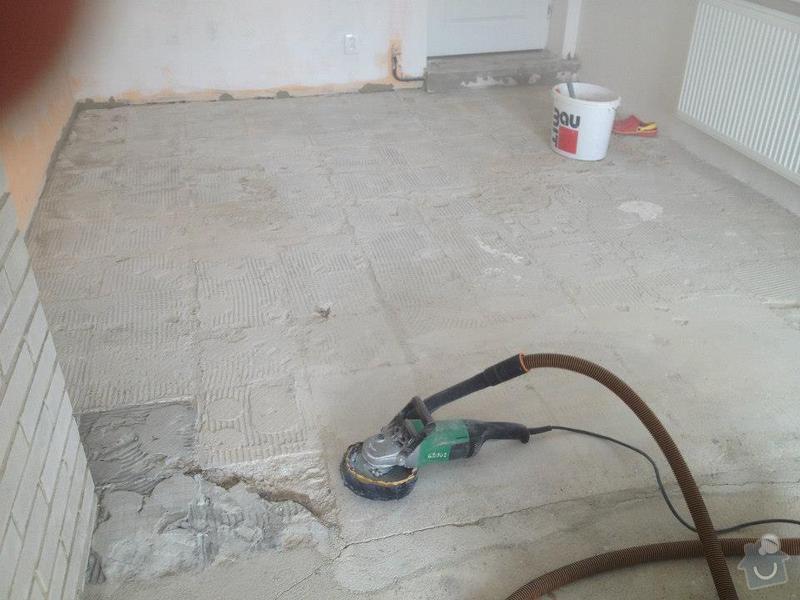 Broušení betonu, samonivelační stěrka, pokládka vinylových pásů: 41