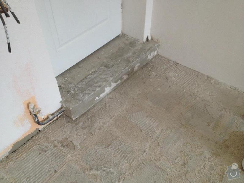 Broušení betonu, samonivelační stěrka, pokládka vinylových pásů: 42