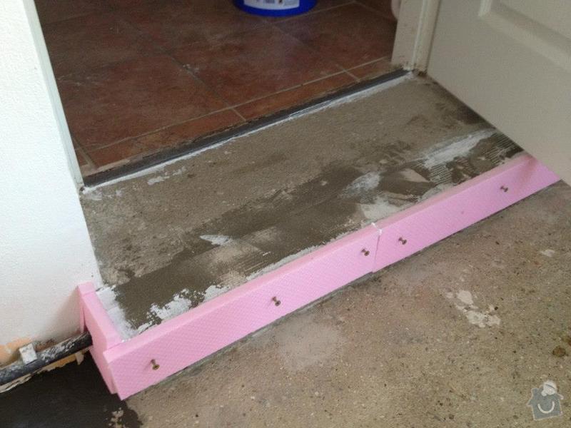 Broušení betonu, samonivelační stěrka, pokládka vinylových pásů: 43