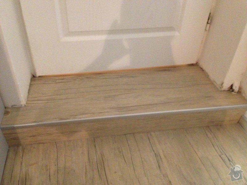 Broušení betonu, samonivelační stěrka, pokládka vinylových pásů: 50