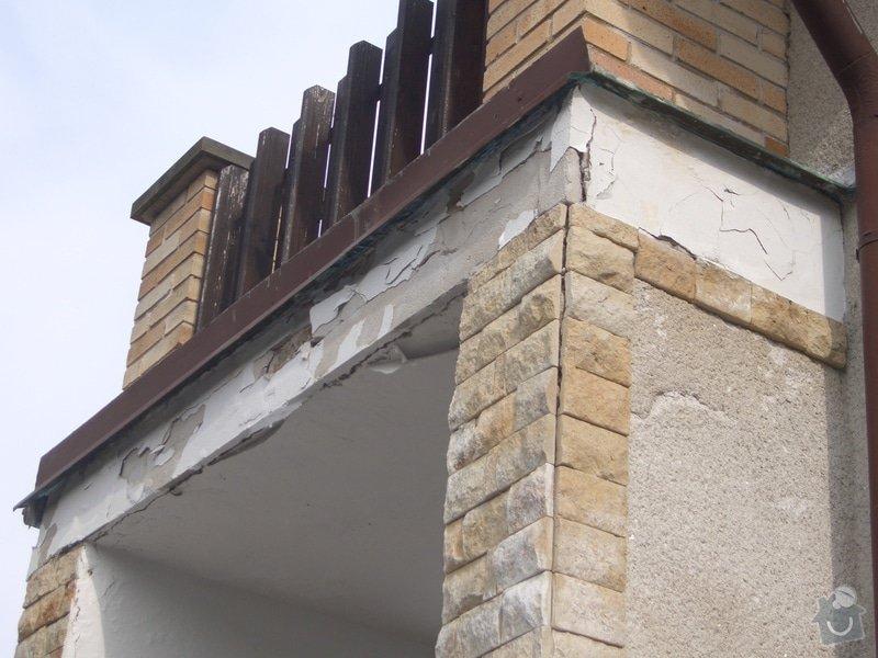 Opravu venkovní terasy, kterou zatéká do zdi a odpadává omítka: CIMG1670