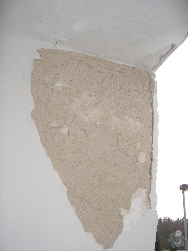 Opravu venkovní terasy, kterou zatéká do zdi a odpadává omítka: CIMG1660