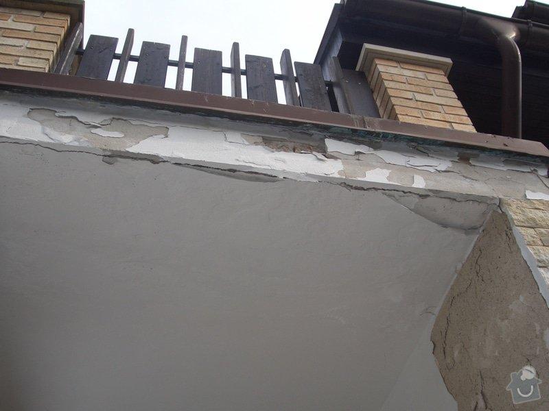 Opravu venkovní terasy, kterou zatéká do zdi a odpadává omítka: CIMG1671