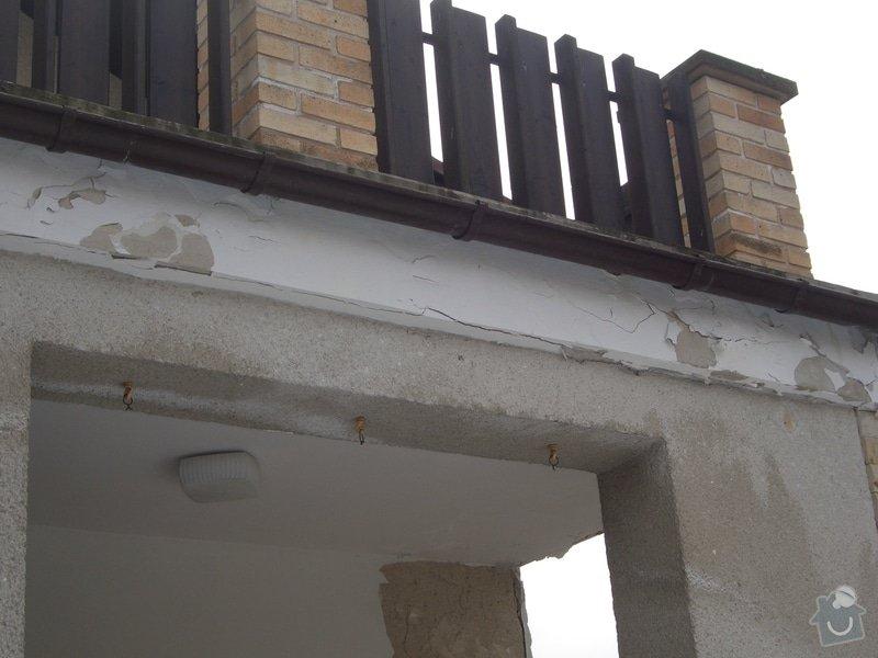 Opravu venkovní terasy, kterou zatéká do zdi a odpadává omítka: CIMG1669