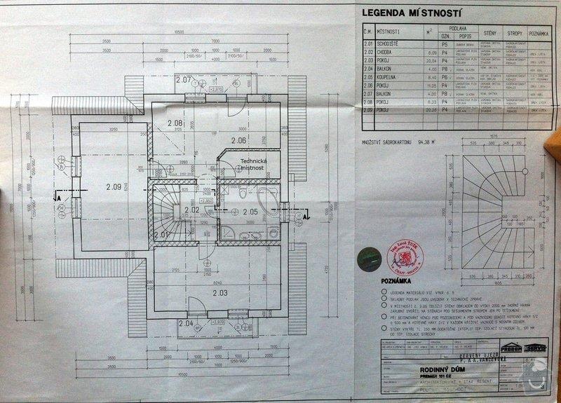 Podlahové topení pro patrový RD: pudorys_poschodi
