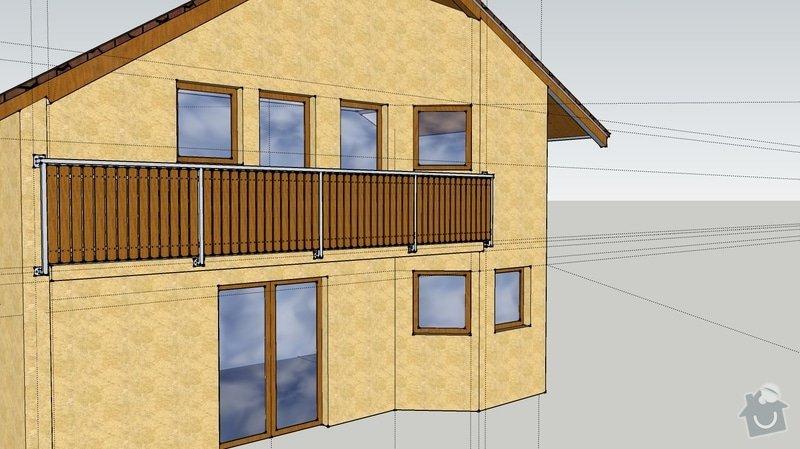 Balkonové zábradlí: pohled1