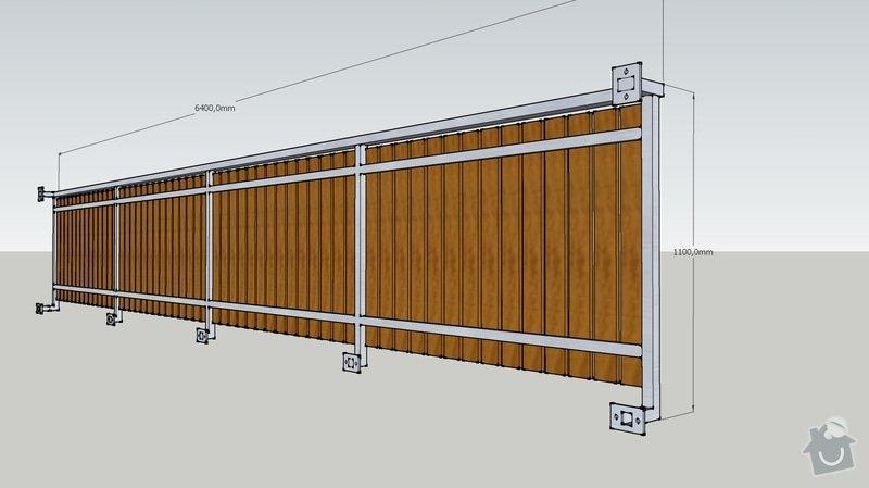 Balkonové zábradlí: pohled2