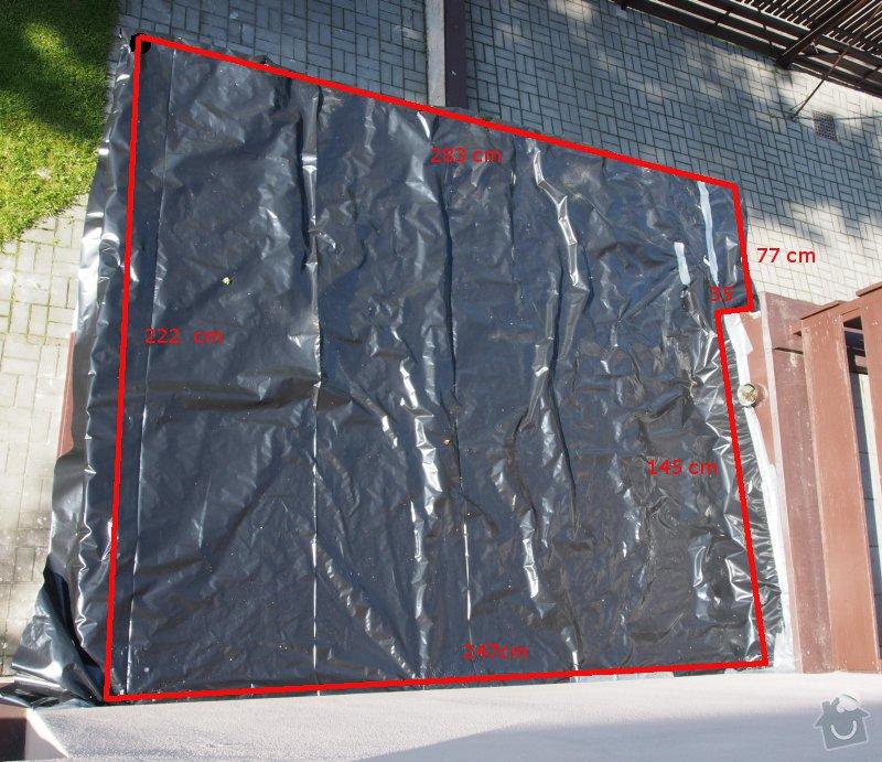 Klempířské práce na verandě - střecha 3x3m: strecha