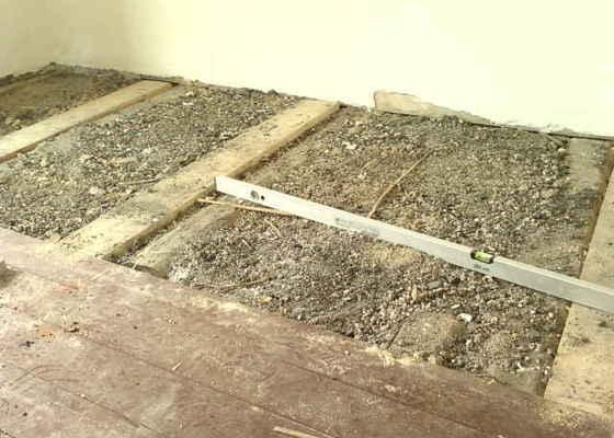 Pokládka dřevěné podlahy - DUB - 3 místnosti