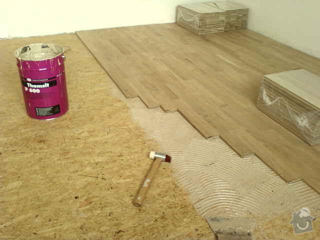 Pokládka dřevěné podlahy - DUB - 3 místnosti: Fotografie0120