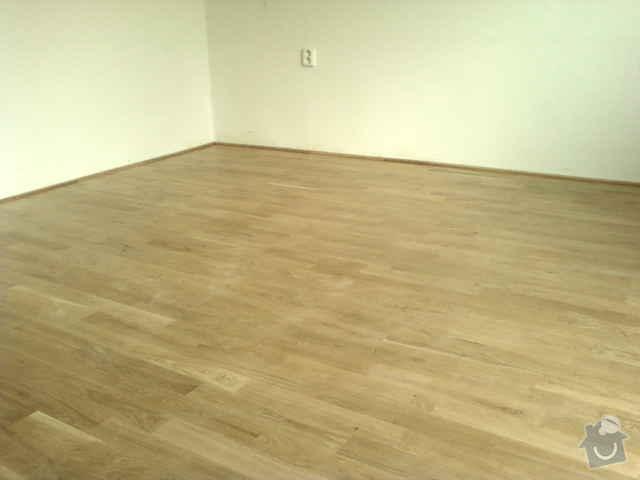 Pokládka dřevěné podlahy - DUB - 3 místnosti: Fotografie0125