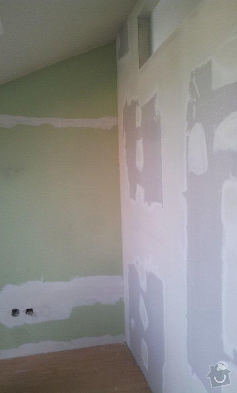 Předělení místnosti (pravděp. sádrokarton, možná s vloženým sklem): 20130516_163540