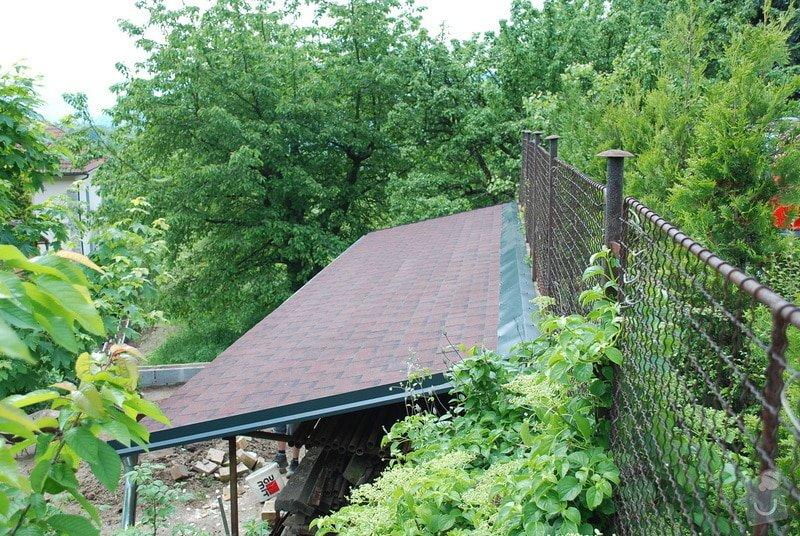 Střecha nad dřevník 2,5x9m - VIDEO: DSC_2565