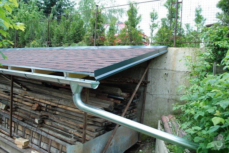 Střecha nad dřevník 2,5x9m - VIDEO: DSC_2566