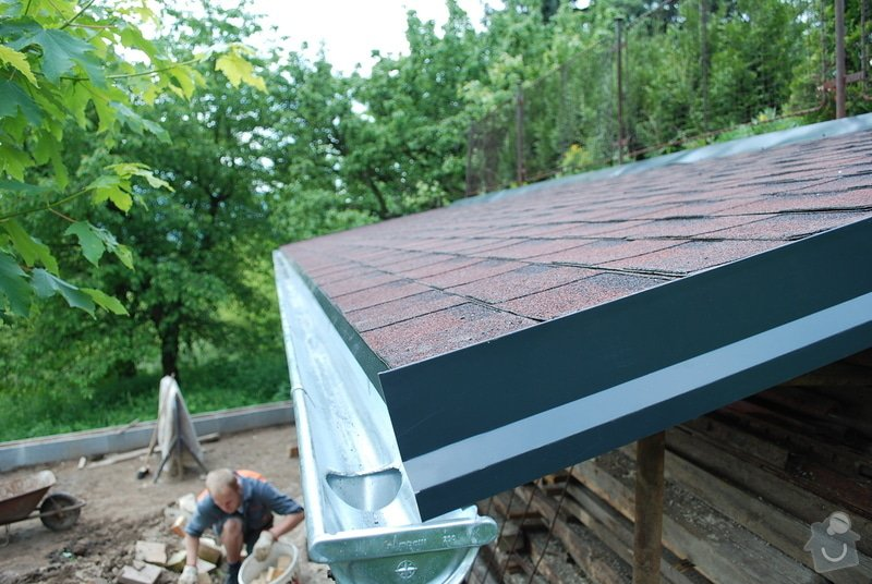 Střecha nad dřevník 2,5x9m - VIDEO: DSC_2567