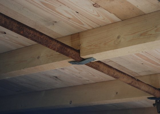 Střecha nad dřevník 2,5x9m - VIDEO
