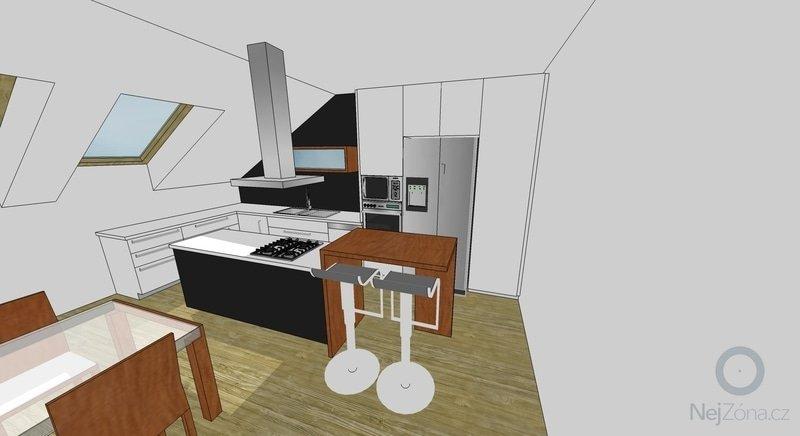 Rozkládací stůl, barový pultík a kuchyňská skříňka: Roman_kuch_01