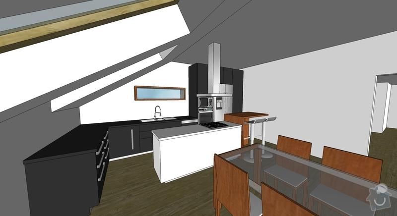 Rozkládací stůl, barový pultík a kuchyňská skříňka: Roman_kuch_02
