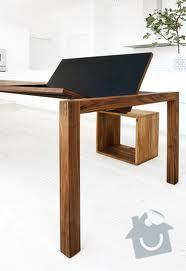 Rozkládací stůl, barový pultík a kuchyňská skříňka: stul_rokl_cerny