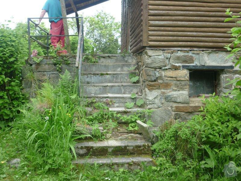 Rekonstrukce terasy u chaty,  Vlkov u Tišnova: Terasa_rekonstrukce_chata_Vlkov_001