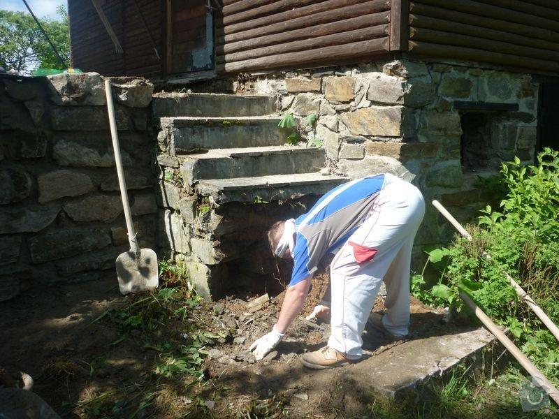 Rekonstrukce terasy u chaty,  Vlkov u Tišnova: Terasa_rekonstrukce_chata_Vlkov_017
