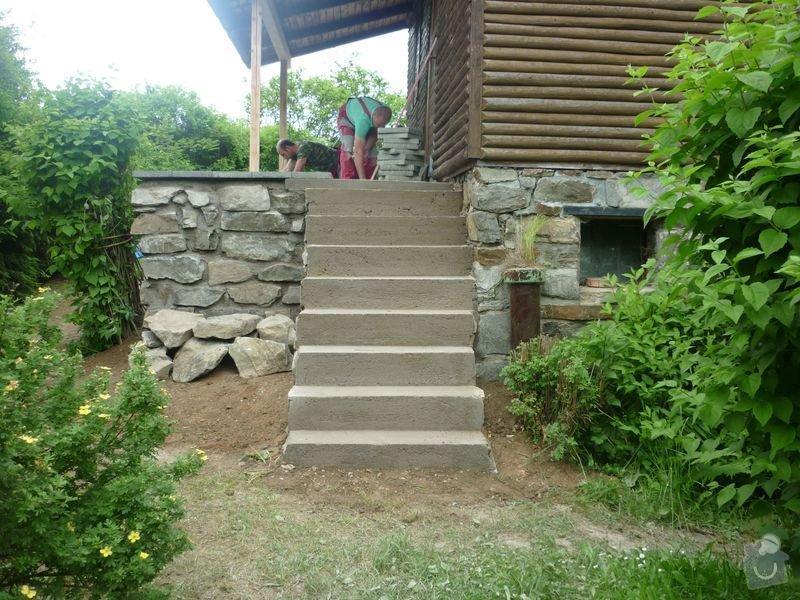 Rekonstrukce terasy u chaty,  Vlkov u Tišnova: Terasa_rekonstrukce_chata_Vlkov_039