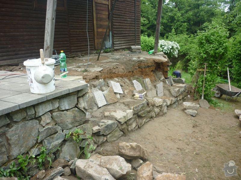 Rekonstrukce terasy u chaty,  Vlkov u Tišnova: Terasa_rekonstrukce_chata_Vlkov_008