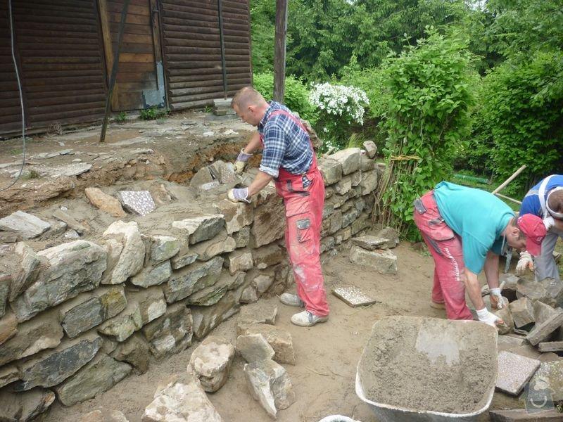 Rekonstrukce terasy u chaty,  Vlkov u Tišnova: Terasa_rekonstrukce_chata_Vlkov_013