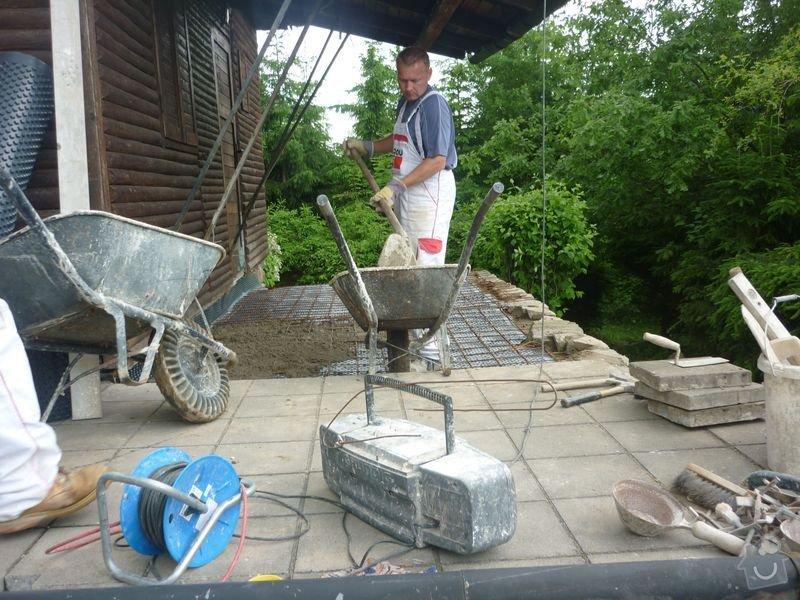Rekonstrukce terasy u chaty,  Vlkov u Tišnova: Terasa_rekonstrukce_chata_Vlkov_026