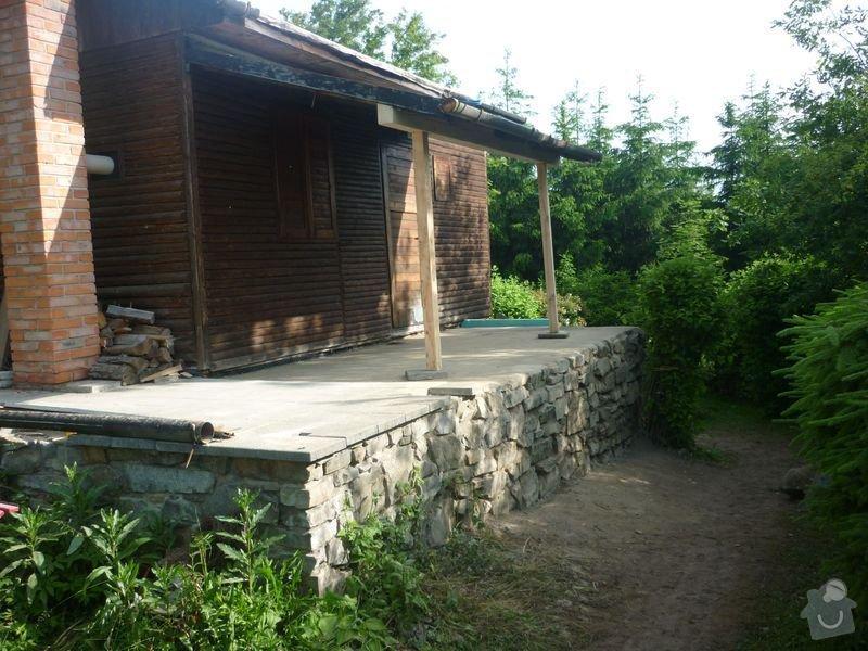 Rekonstrukce terasy u chaty,  Vlkov u Tišnova: Terasa_rekonstrukce_chata_Vlkov_036