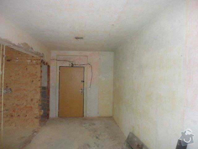 Příprava bytu na rekonstrukci, posunutí příček: DSC00894