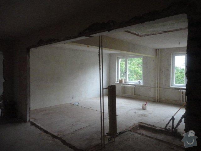 Příprava bytu na rekonstrukci, posunutí příček: DSC00898