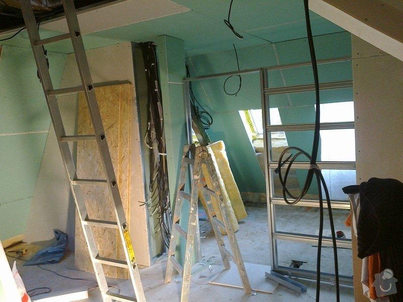 Kompletní rekonstrukce podkroví: koupelna