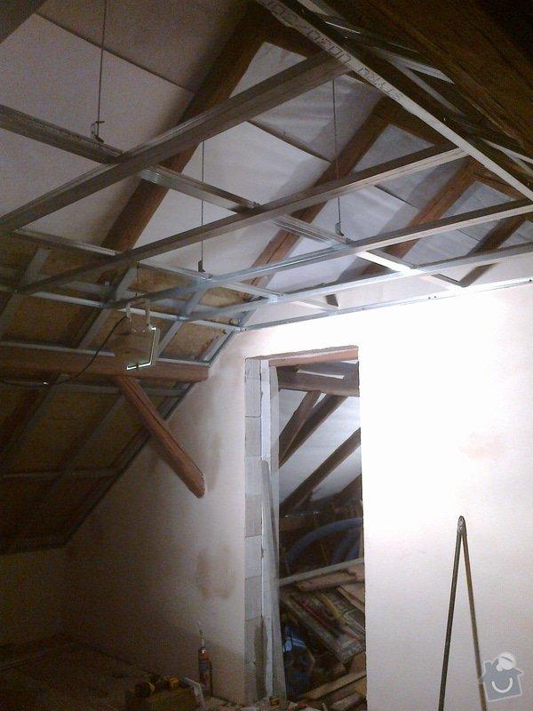 Rekonstrukce rekreační chaty,luxusní koupelna se sanou,podkroví,podlahy,zateplení: Rastry