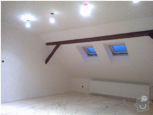 Rekonstrukce rekreační chaty,luxusní koupelna se sanou,podkroví,podlahy,zateplení: Podkrovi_Mnichovo_Hradiste