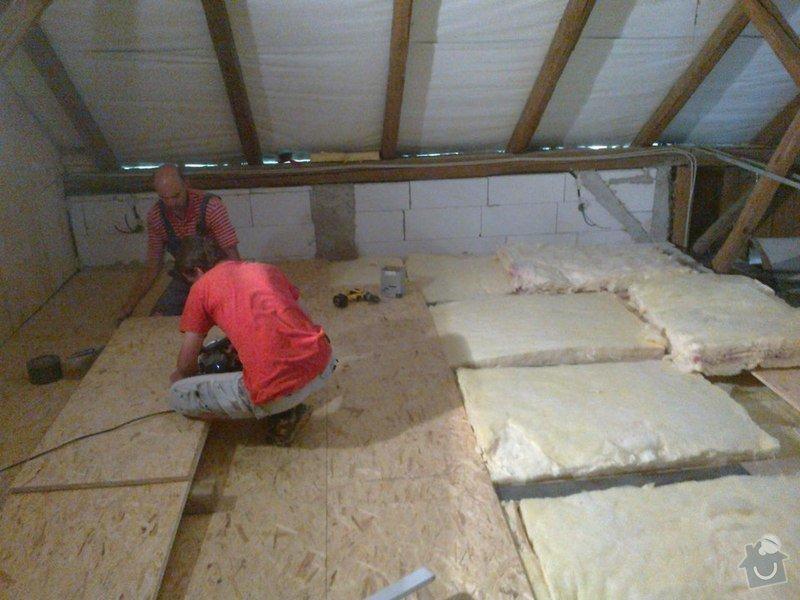 Rekonstrukce rekreační chaty,luxusní koupelna se sanou,podkroví,podlahy,zateplení: Zatepleni_podlaha