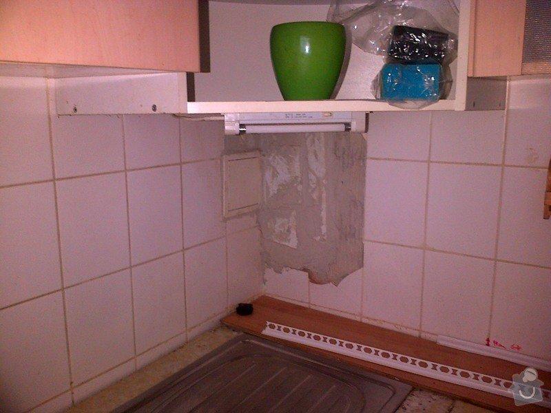 Úprava vnitřní omítky, doplnění dlaždiček v koupelně, wc a kuchyni: kuchyne