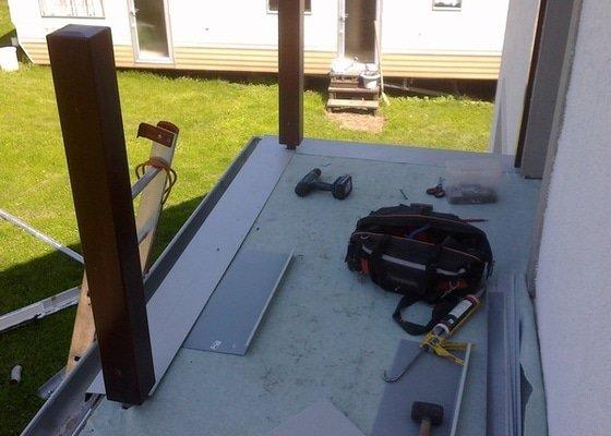 Oplechování balkónu,včetně okapu,cca 4-5m2